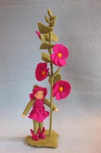 Bastelpackung Blumenkind Stockrose Atelier Pippilotta