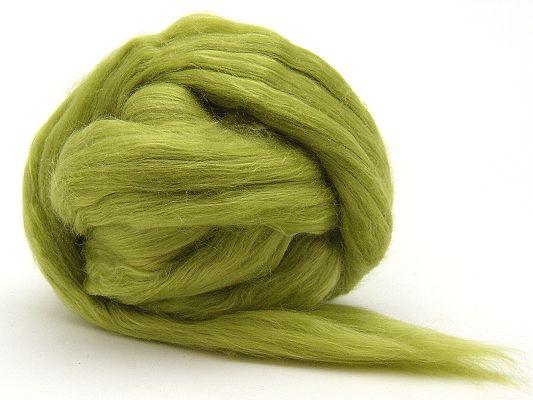 Filzwolle / Extrafeine Merinowolle mit Maulbeerseide Grün