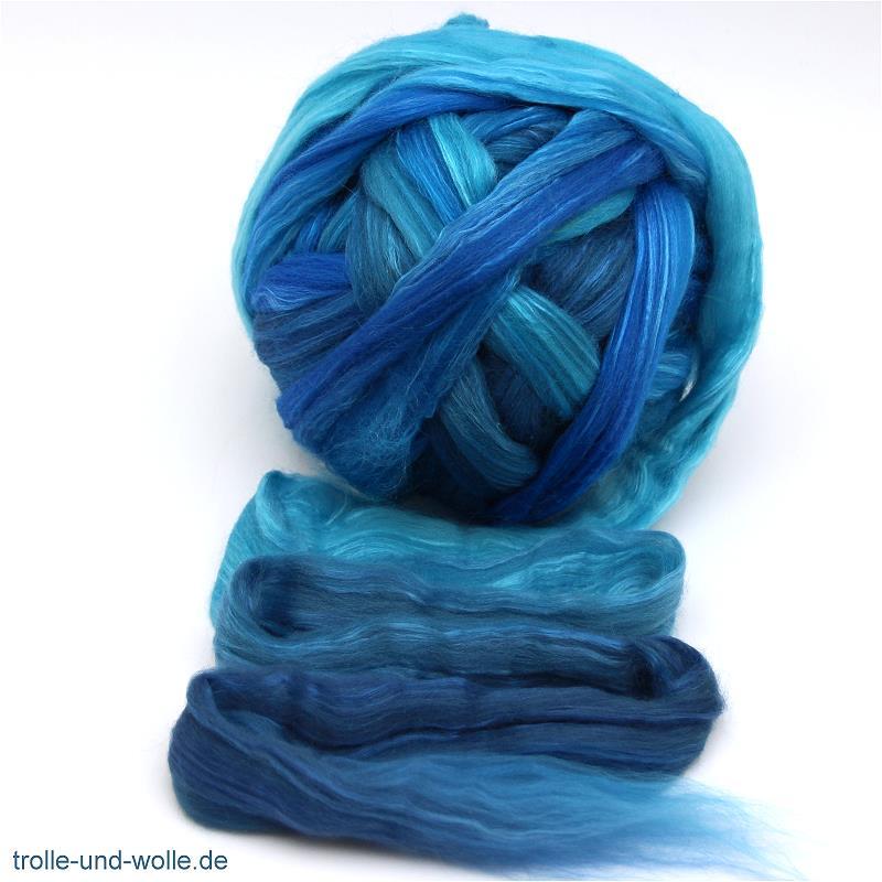 Floating Color Merino-Seidenkammzug Ozean 50 g