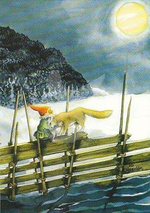 Postkarte* Fuchs und Zwerg
