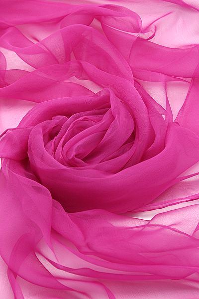 Seidenschal aus Chiffon 180 x 55 cm Pink