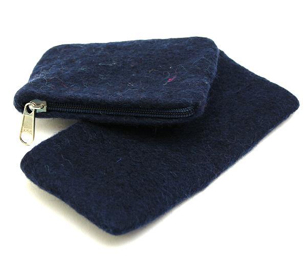 Schatzkiste 26a 2 gefilzte Börse/ Tasche nachtblau