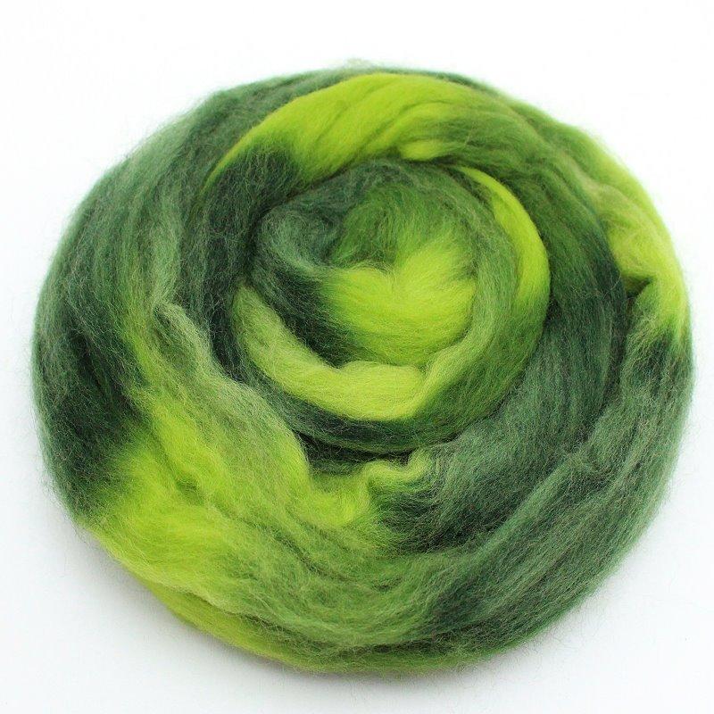 Multicolor Wolle zum Filzen Wiese
