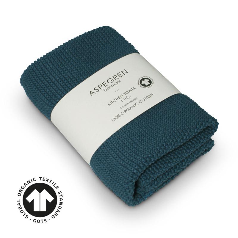 Aspegren kl. Handtuch Organic Cotten Solid Indigo
