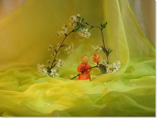 Schleiertuch Frühlingswiese