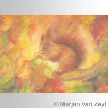Kunstkarte Eichhörnchen