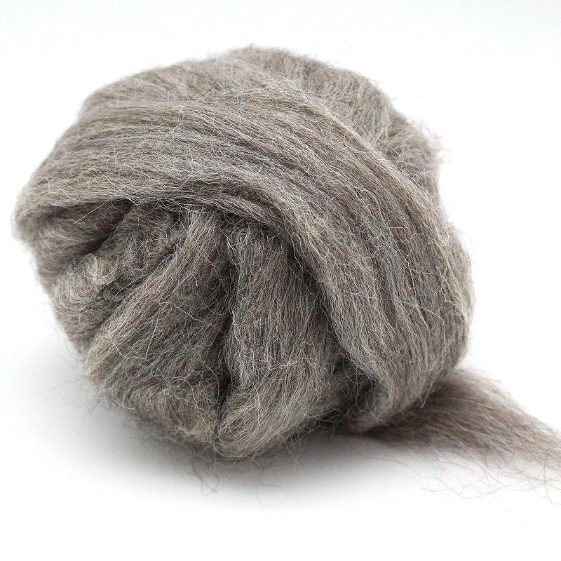 Schottische Schafwolle grau