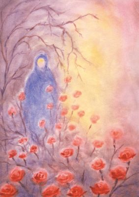 Kunstkarte Maria durch ein Dornwald ging