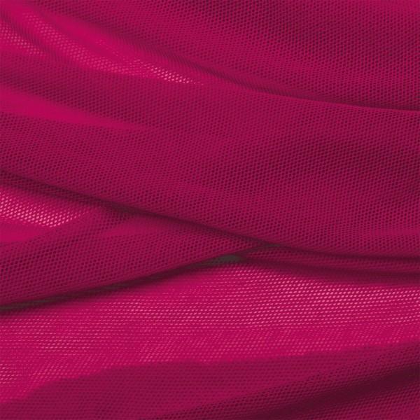 Soft Tüll Stoff aus Biobaumwolle Himbeer pink