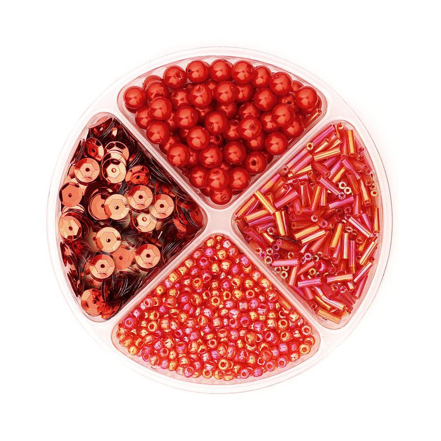 Schmuckset Perlen rot