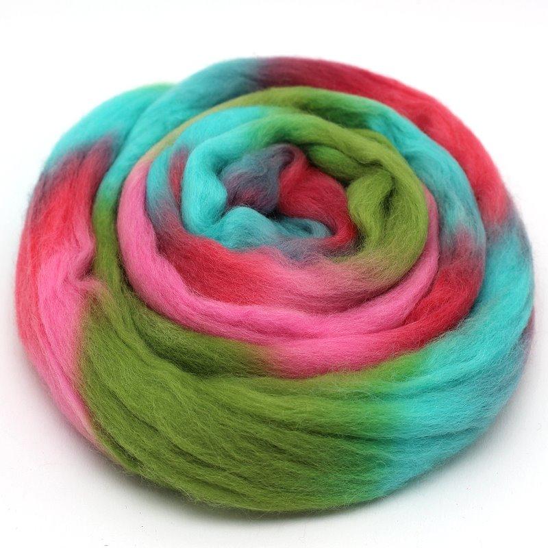 Multicolorwolle zum Filzen Bonbon
