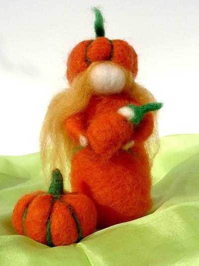 Bastelpackung Kleines Kürbiskind aus Märchenwolle T&W