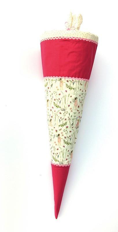 Schultüte - Zuckertüte Elfe rosa