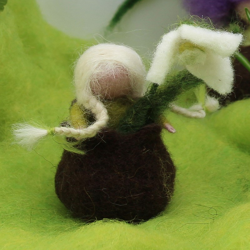 Filzset kleines Schneeglöckchen in einer Zwiebel T&W