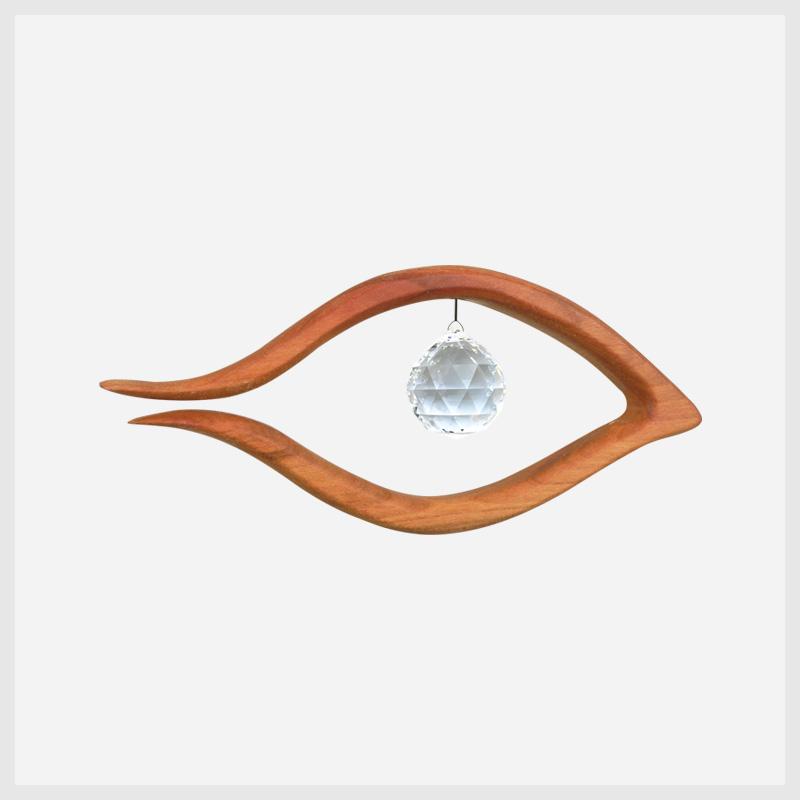 Feng Shui Fensterschmuck Auge mit Kristall