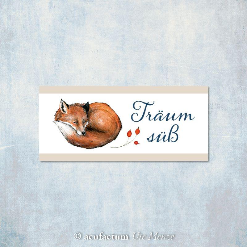 Webetikett Träum süß Fuchs