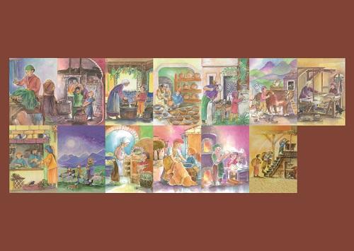Postkartenset Handwerker 13 Stück