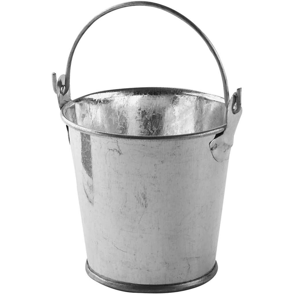 Kleiner Metall- Eimer 1 Stück