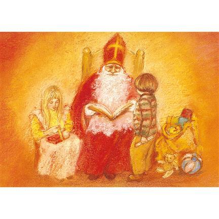 Postkarte St. Nikolausabend
