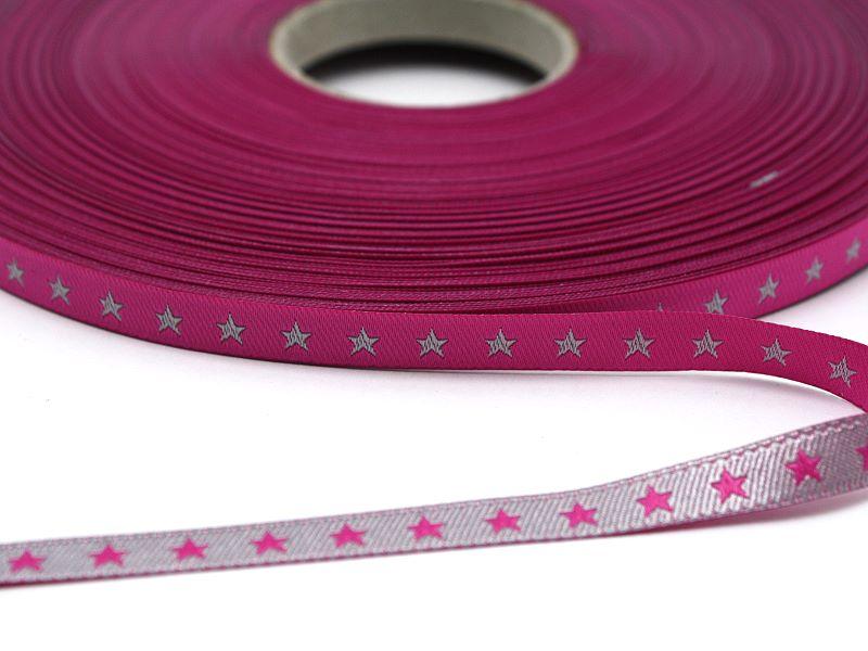 Sternchenwebband Pink - Silber
