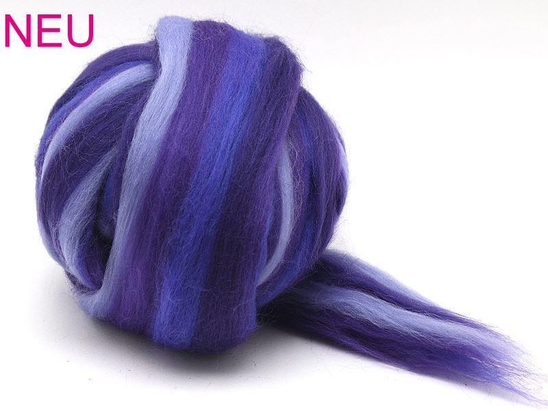 Filzwolle / Feiner multicolor Merinokammzug Lavendel