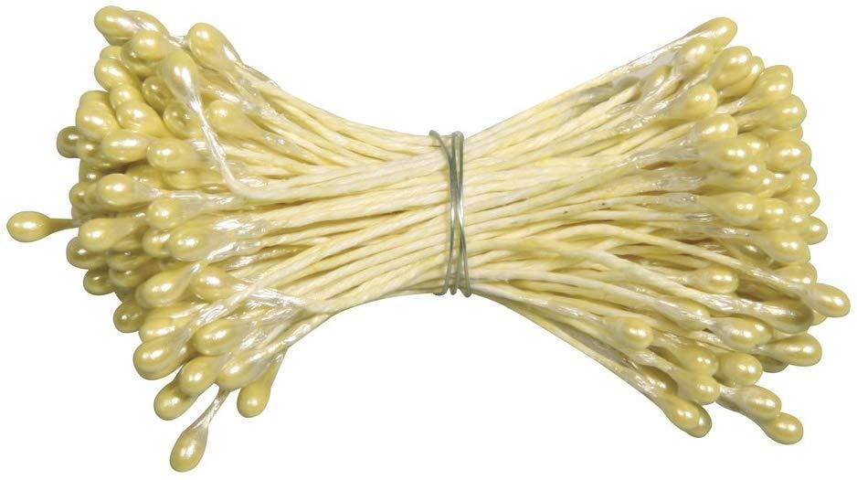Blütenstempel in gelb 144 Stück