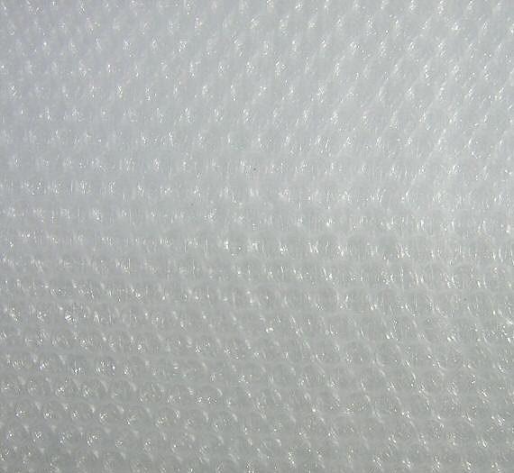 Luftpolsterfolie zum Filzen 100 cm breit.
