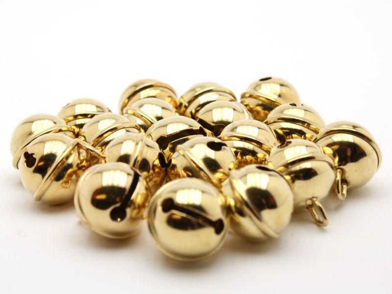 Mini Glöckchen goldfarben kugelförmig 9 mm