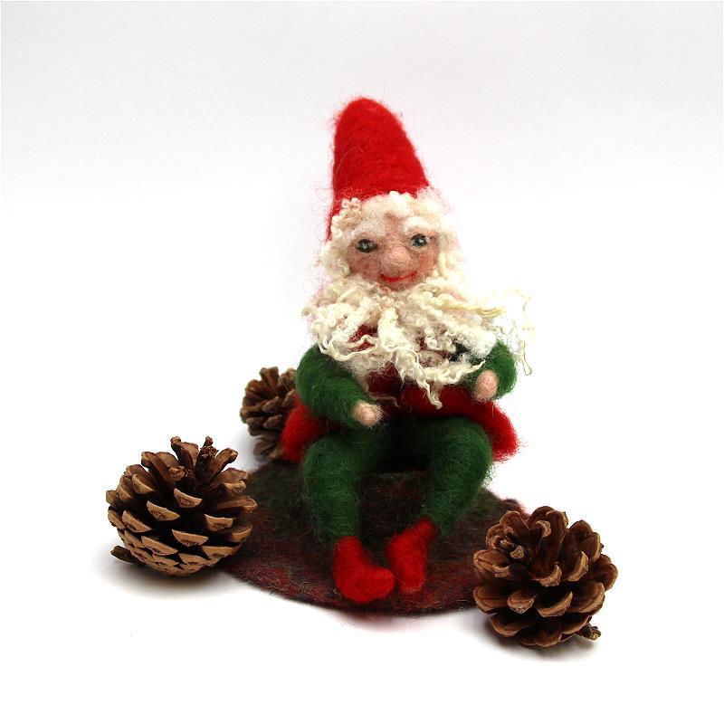Bastelpackung Weihnachtszwerg in rot-grün T&W