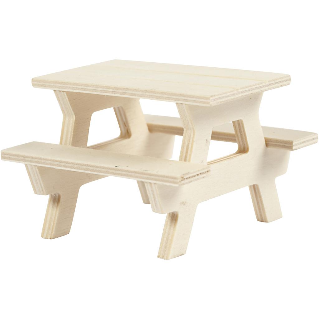 Picknick Tisch mit Bank für Püppchen
