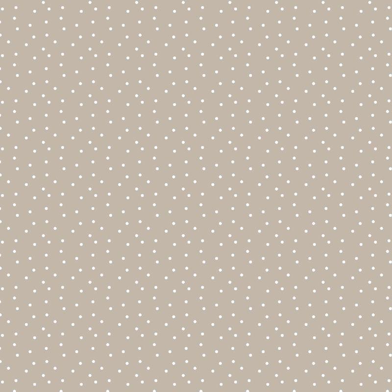 Baumwollstoff Tupfen taupe -weiß 145cm
