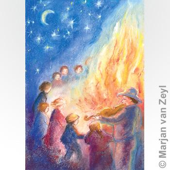 Postkarte - St. Johannis Feuer