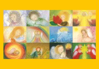 Engel-Monats-Kunstkartenset 12 Stück