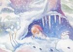 Kunstkarte * Hutzliputz im Winter