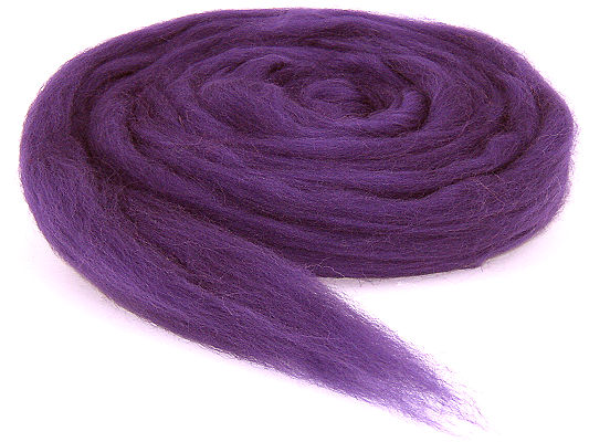 Filzwolle / Bunter Merinokammzug Violett (30)