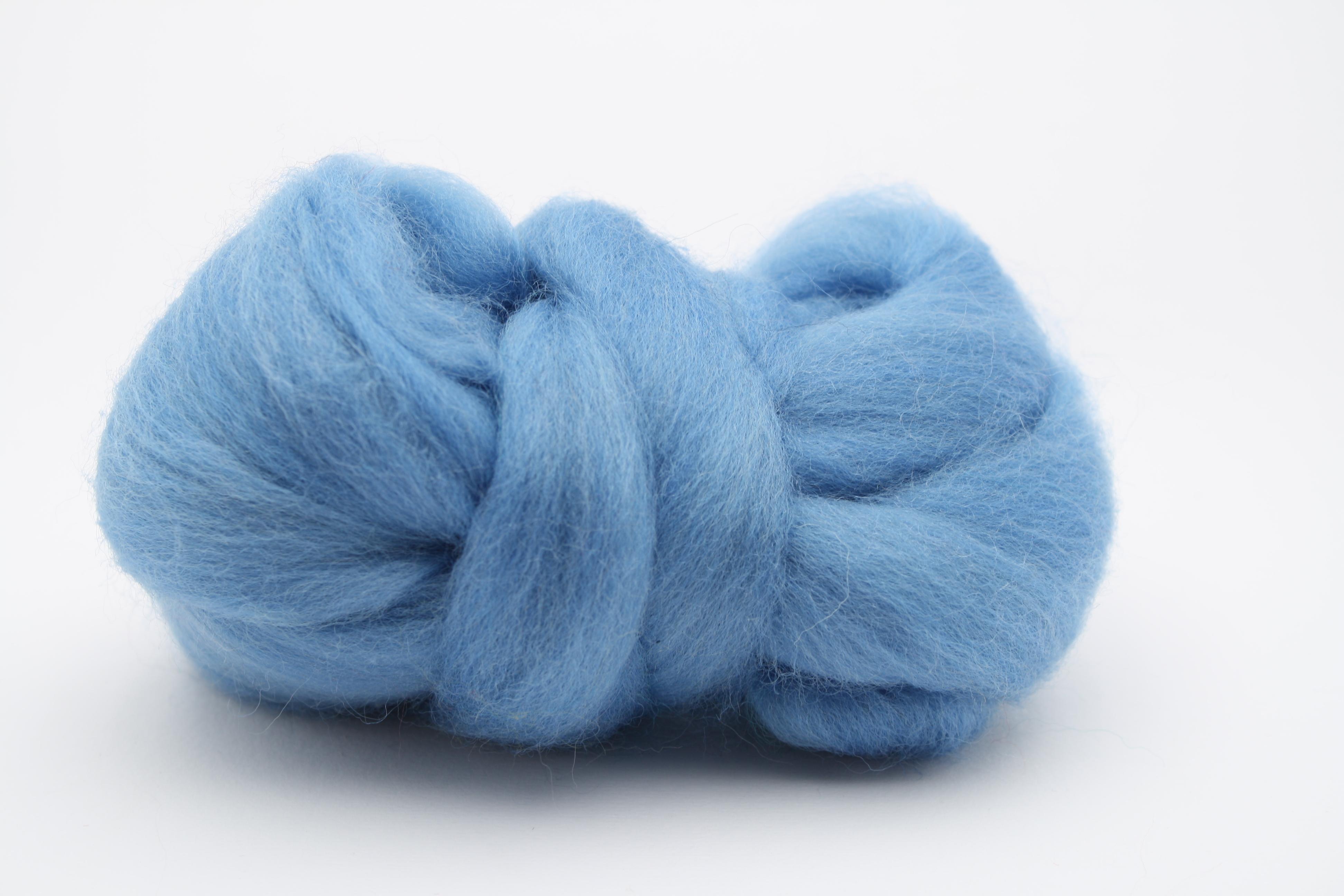Filzwolle / Bunter Merinokammzug Blau (53)