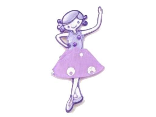 Aufnäher - Applikation Ballerina flieder