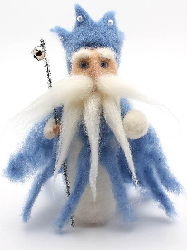 Bastelpackung König Winter aus Märchenwolle T&W