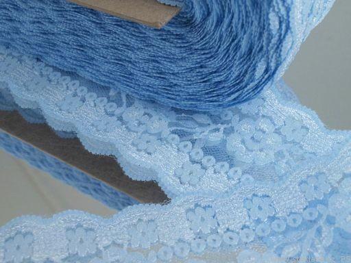 Wäschespitze in hellblau 70 mm