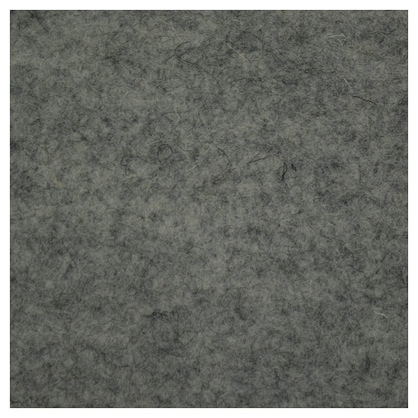 Wollfilz Meterware 3 mm grau 180 cm breit