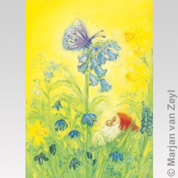 Kunstkarte Frühlingsschmetterling