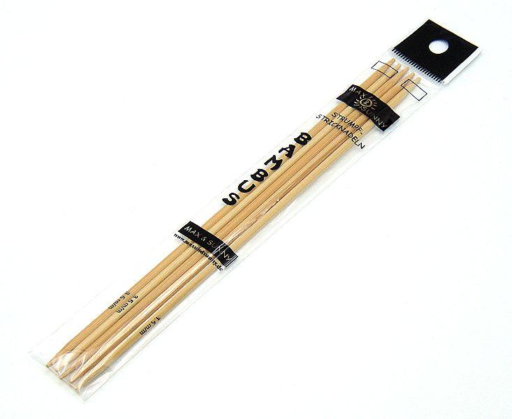 Strumpfstricknadel Bambus 15 cm