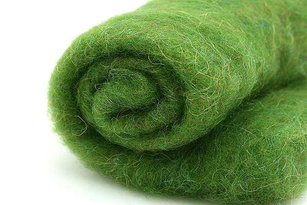 Filzwolle Glanzfein Grasgrün