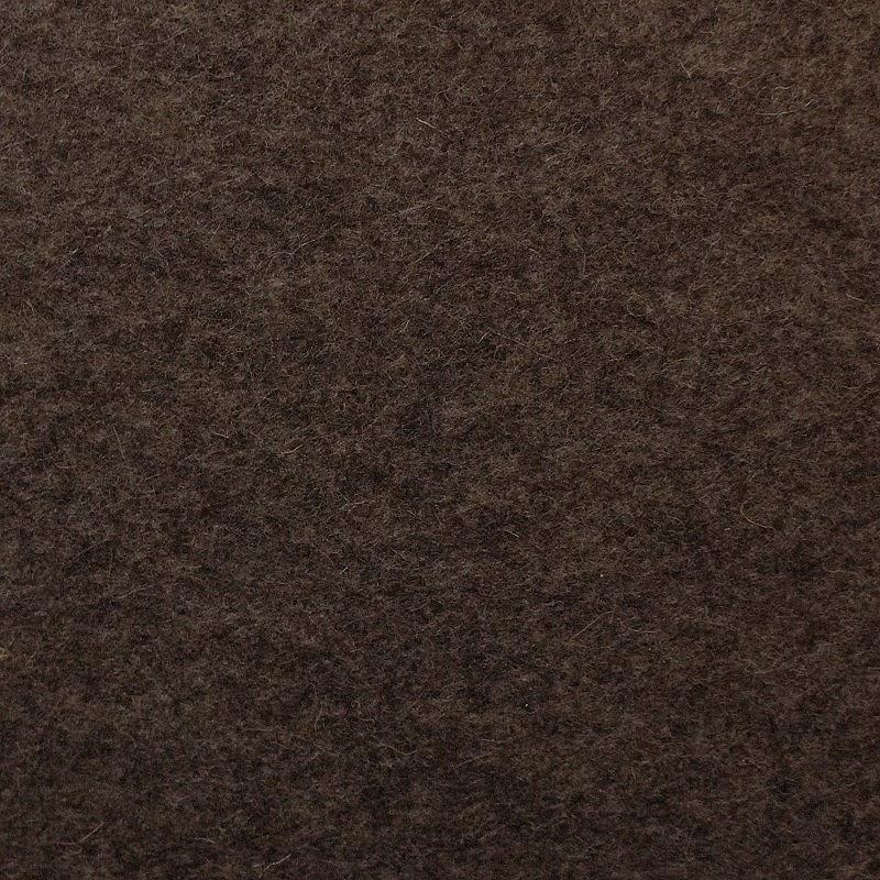 100 % reiner Wollfilz Dunkelbraun meliert