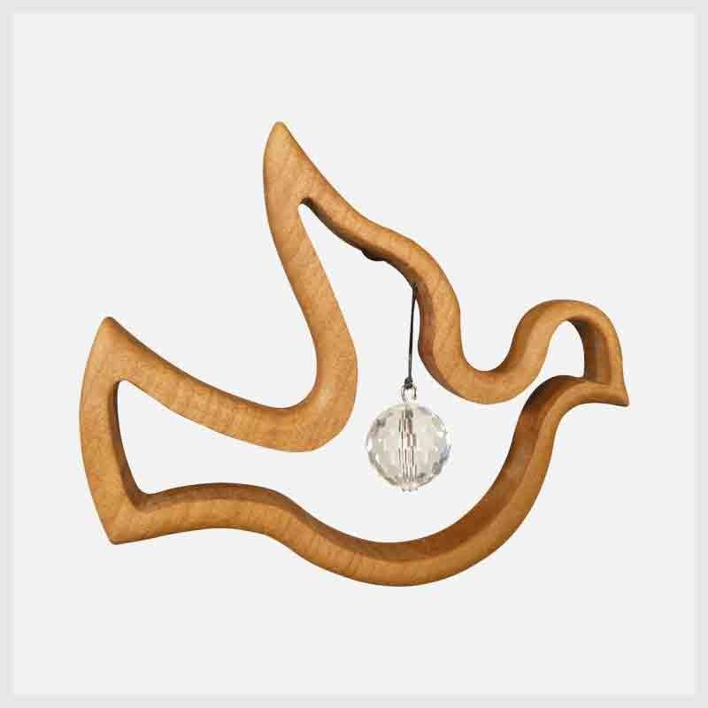 Feng Shui Fensterschmuck Friedenstaube aus Holz