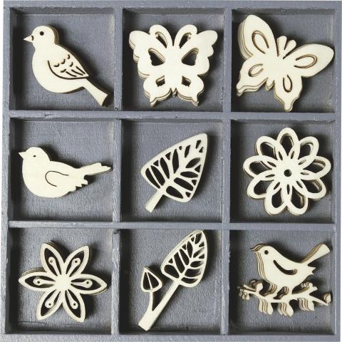 Holzbox Ornamente Floral Filigran