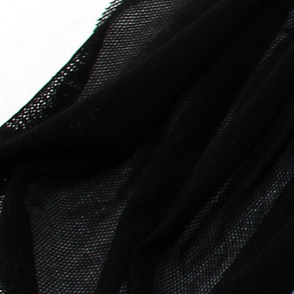 Soft Tüll Stoff aus Biobaumwolle schwarz