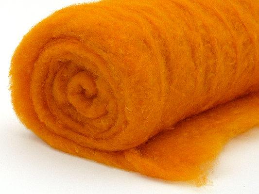 Filzwolle / Bunte Märchenwolle im Vlies Orange