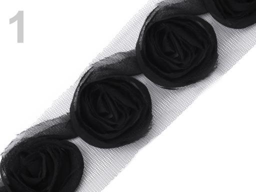 Borte in Rosenform schwarz