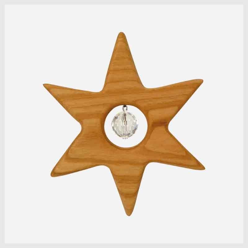 Feng Shui Fensterschmuck Kleiner Stern mit Kristall